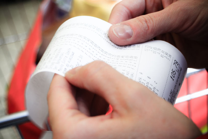 Why You Should Avoid Touching Receipts