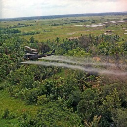 Military aircraft spraying agent orange