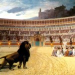 Lion in the arena