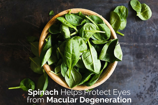 Spinach Helps Protect Eyes from Macular Degeneration